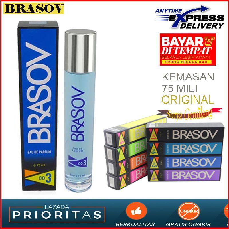 BRASOV 003 Eau De Parfum 75 MILI Original Parfum Pria Parfum Colugn Hitam Asli Dan Halal