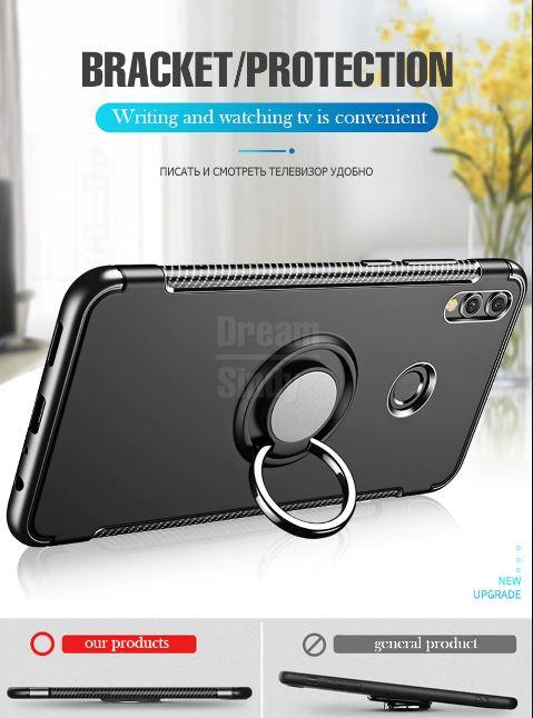 Review Accessories Hp Huawei Honor 8x Ultimate Carbon Ring Kickstand