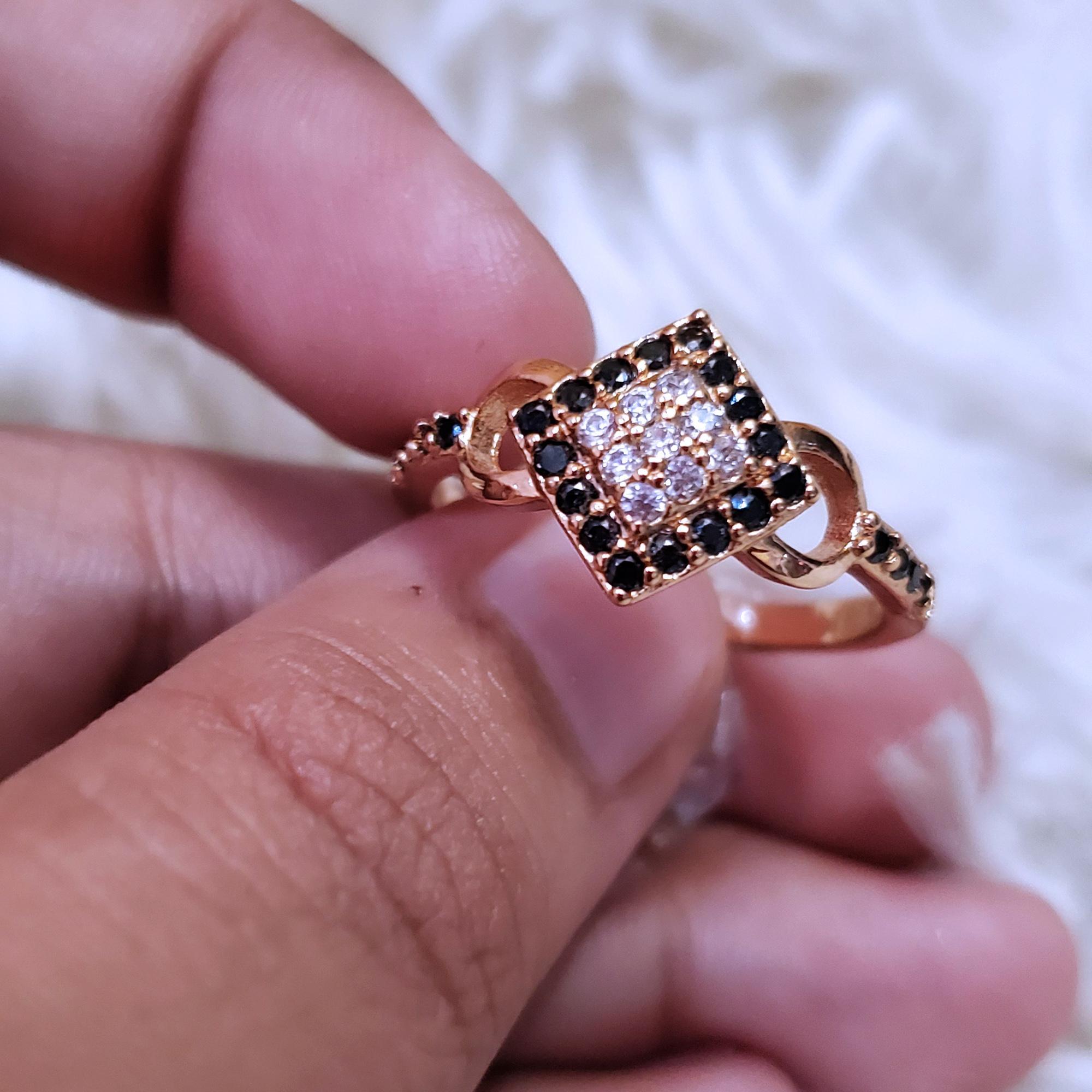 cincin permata hitam mewah gold