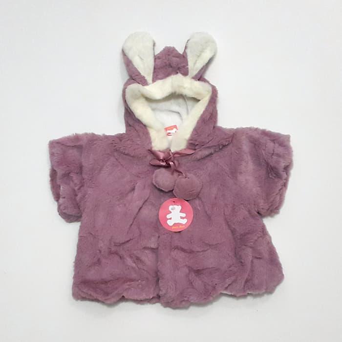 ... DEVINA'- Jaket Bulu Anak Bayi Perempuan Petite Bear Pompom Hoodie Kelinci - 5