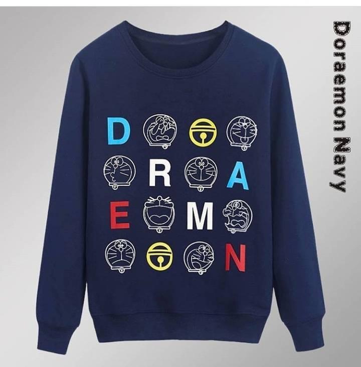 BAYAR DITEMPAT Jaket Sweater Hoodie DORAEMON WANITA NAVY /Jaket Korea Jaket Suiter - Jaket Sweater