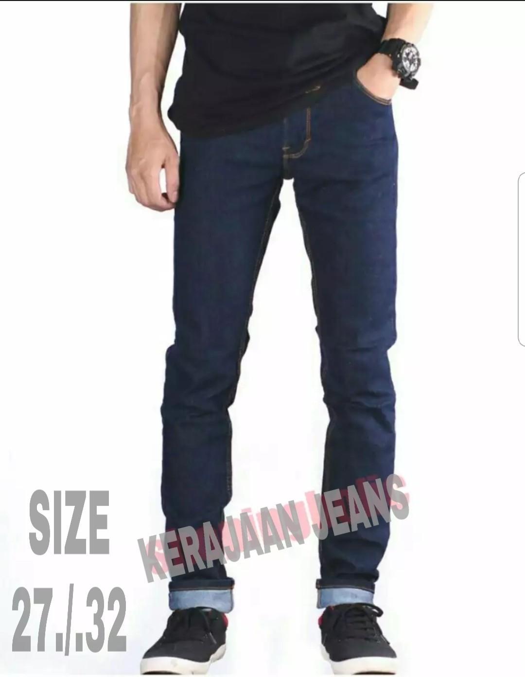 celana jeans fasion/kerajaan jeans/celana panjang pensil pria/celana panjang karet cowok