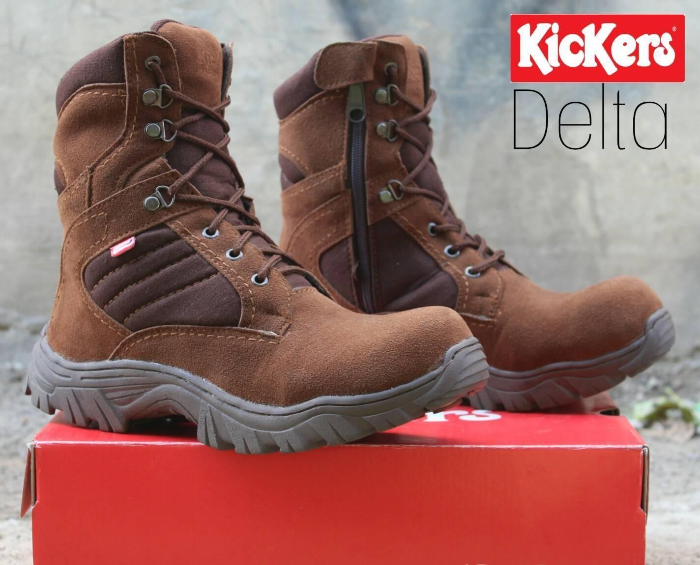 Diskon Besar Sepatu Boots Safety Pria Kickers Armor Hitam Delta ... 229fa895e1