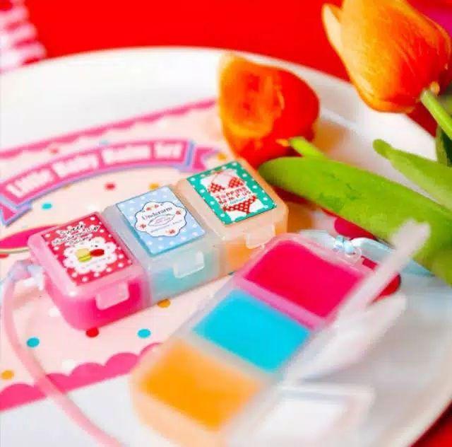 original thailtopping balm by little baby balm set 3in1 macaron lip balm underarm cupcake balm topping balm original bestet