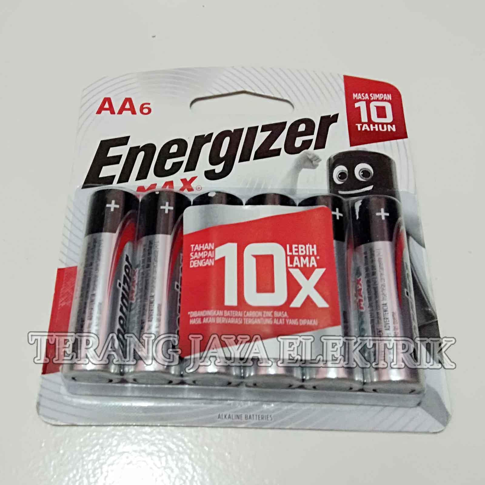 baterai aa / a2 15v energizer max isi 6pcs – sni