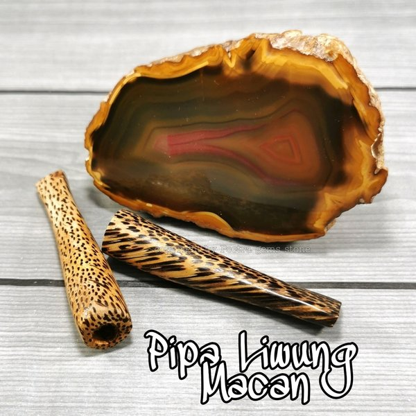 icbeads pipa atau once kayu liwung corak natural alami