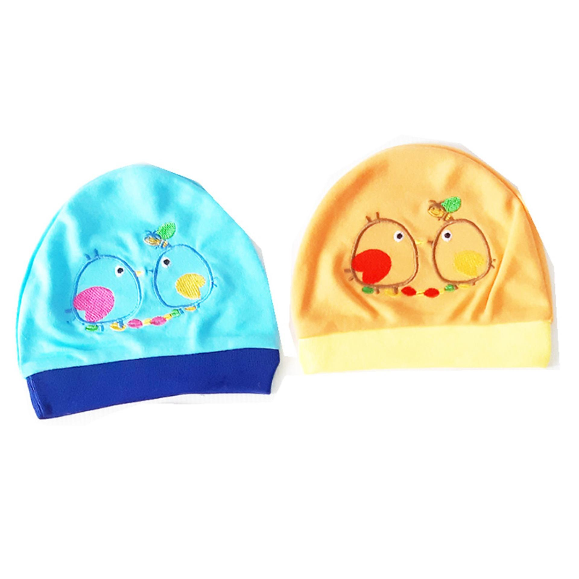 AA Toys PAKET HEMAT 2 Pcs Okiyo Topi Bayi Newborn Motif Bird - Kupluk Bayi /