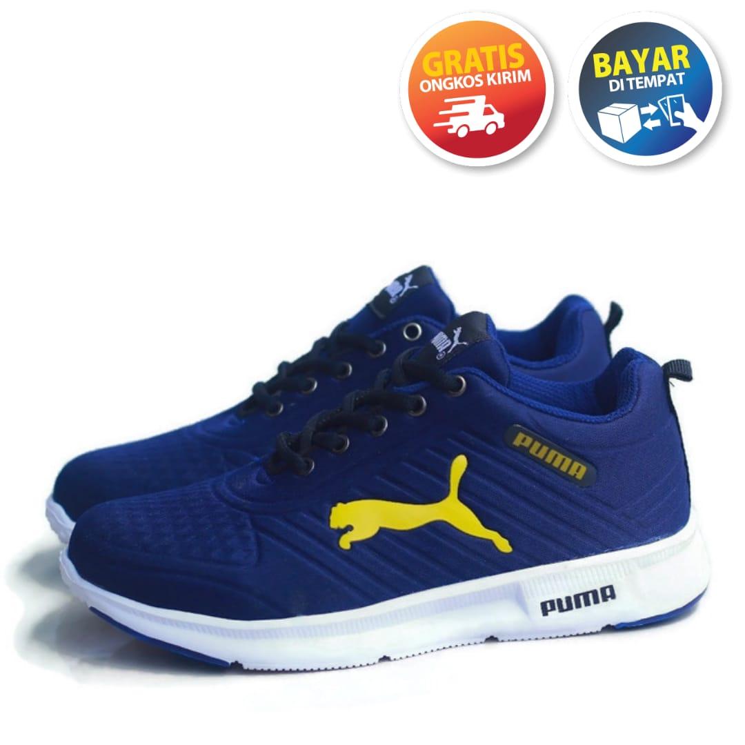 sepatu lari pria pumma 55 / sport sneakers import    jogging running casual cowok cewek 100% real picture