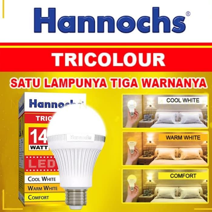 lampu led tiga warna / hannochs tricolour led 14 watt garansi 1 tahun