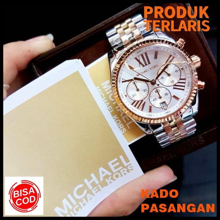 jam tangan wanita  michael kors original  fashion wanita anti air keren outdoor kado branded watch type  5735 original box ori