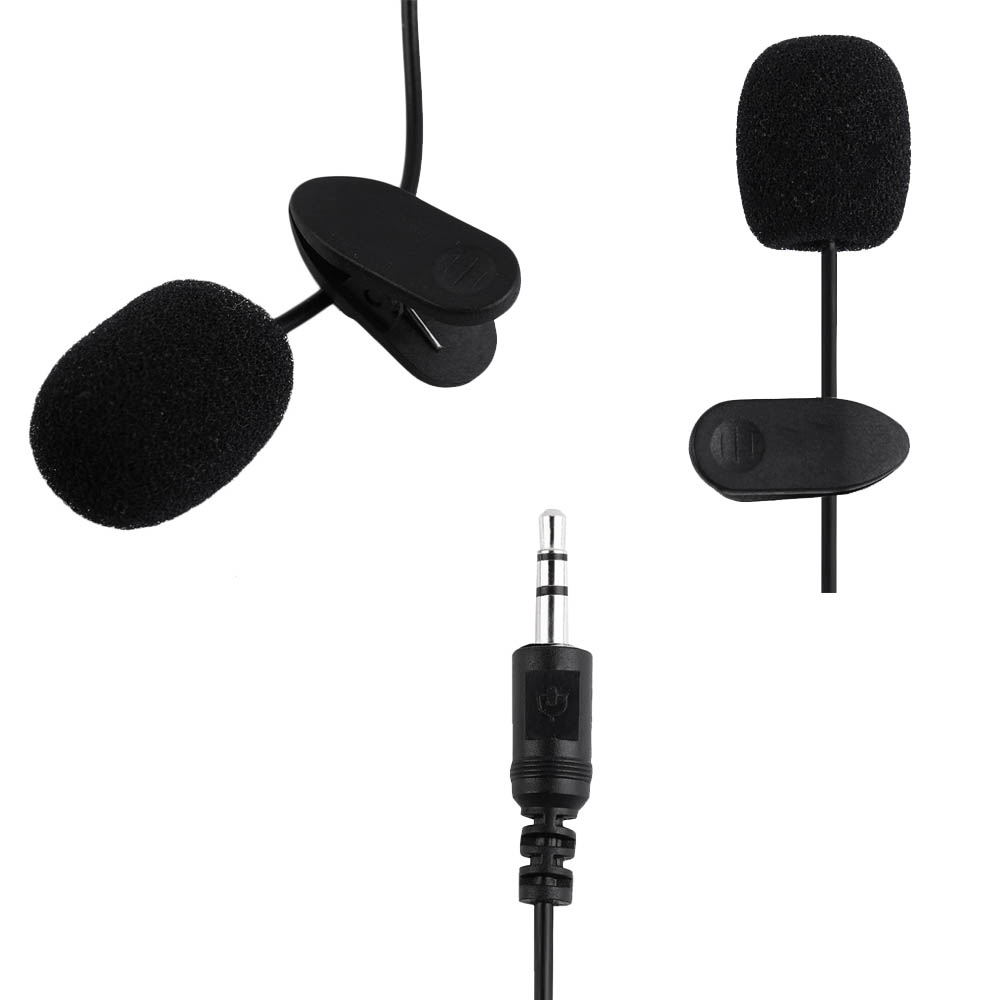Microphone Clip On Jack 3.5 mm For Video Call Or Live Streaming