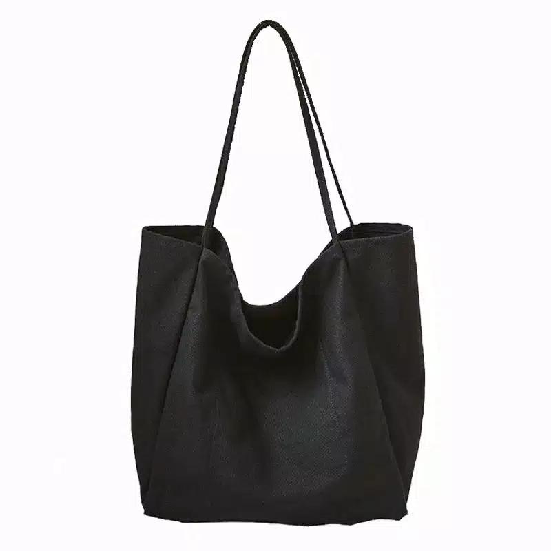 tsbcl tote sling bag canvas leather tas jinjing selempang wanita korea kanvas cewek laptop notebook