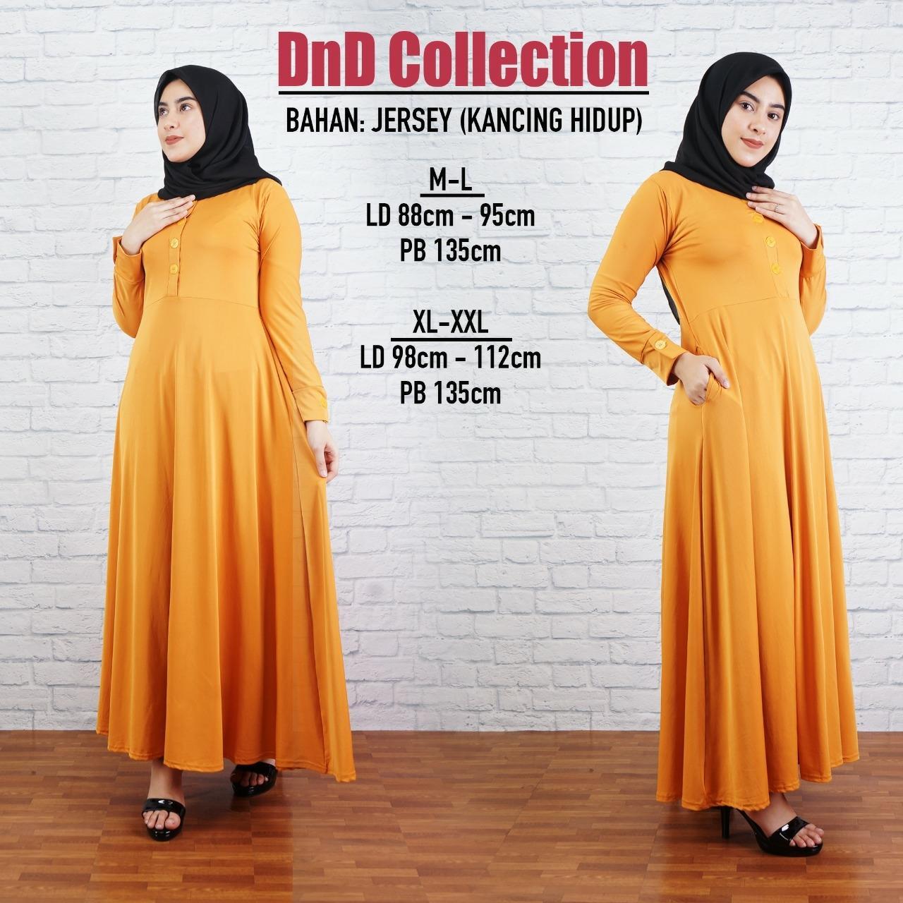 DnD - PROMO GAMIS KANCING MURAH Baju Gamis Gamis wanita Baju Muslimah Dress Muslimah Fashion Muslimah