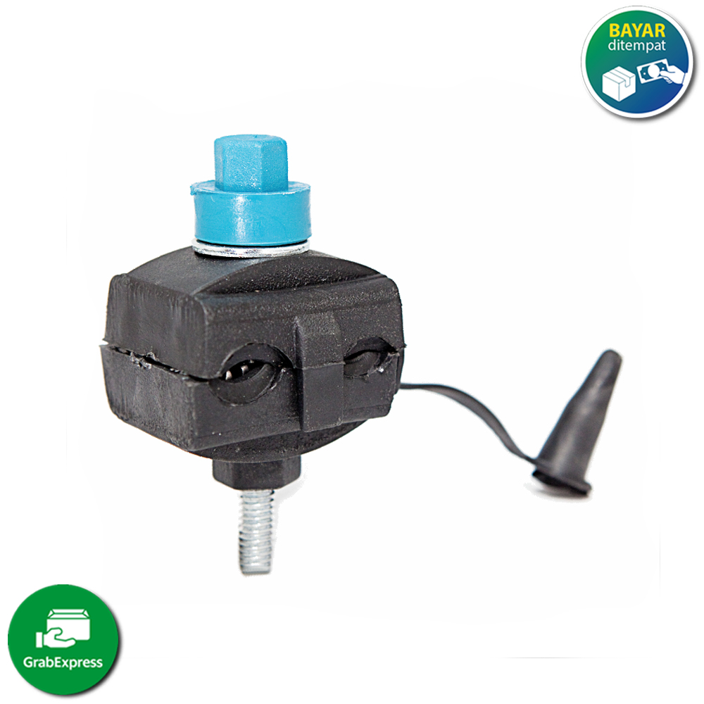 tap masko konektor kabel listrik pln hitam kedap air tembaga/ conektor