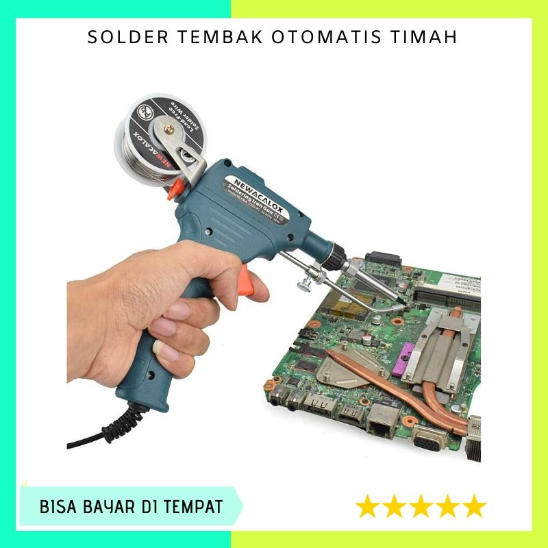 solder otomatis timah solder iron automatic tin gun 60w (alat reparasi elektronik / solder model  / solder tembak otomatis / solder listrik otomatis / alat solder otomatis / solder otomatis 60w 60 watt / alat solder iron otomatis tembak )