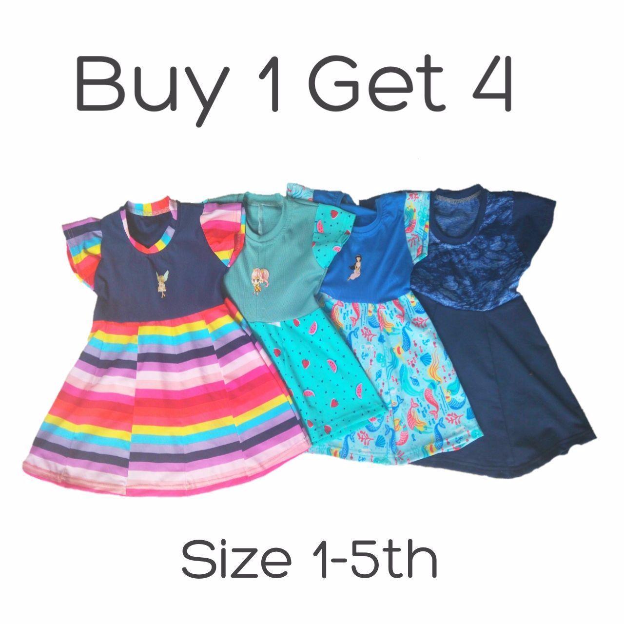 Buy 1 Get 4 - Dress Anak 1-5 Tahun - Baju Anak - 2
