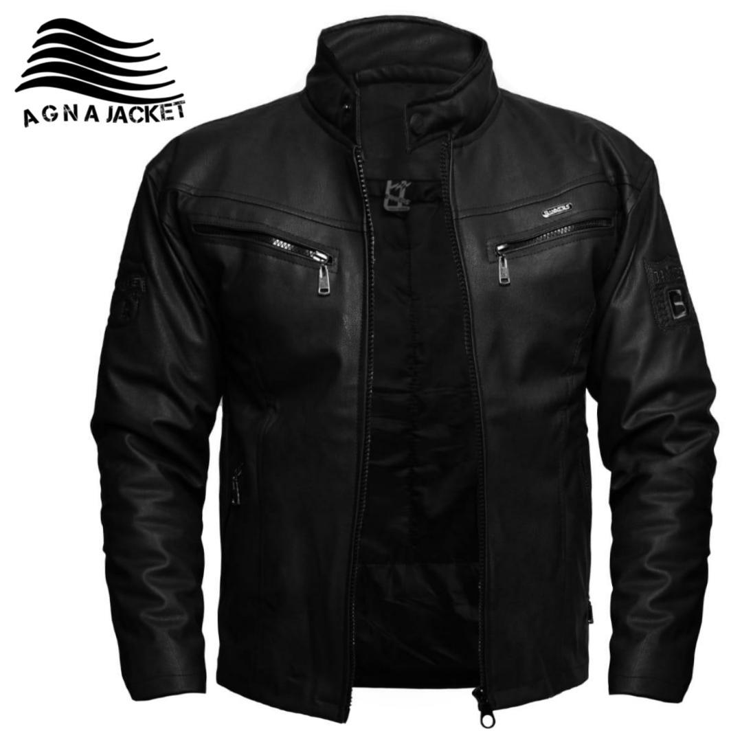 jaket pria kulit sintetis asli garut agna jaket