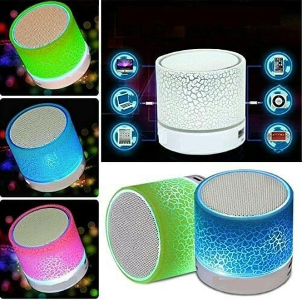 Promo harga paling murah Speaker Bluetooth S10 Suara Mantap - Speaker Bluetooth Retak With LED Support