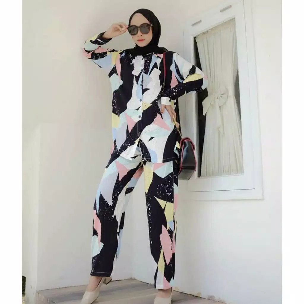 one set tunik rayon kaktus pajamas / daily set