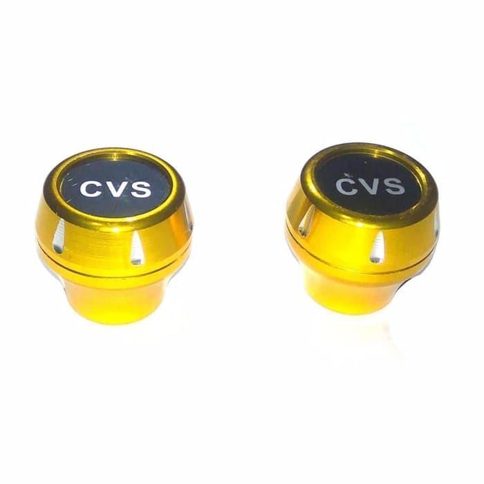 Eastjava - Cvs Jalu As Roda depan CNC Model Bulat Universal Size Kecil - Gold