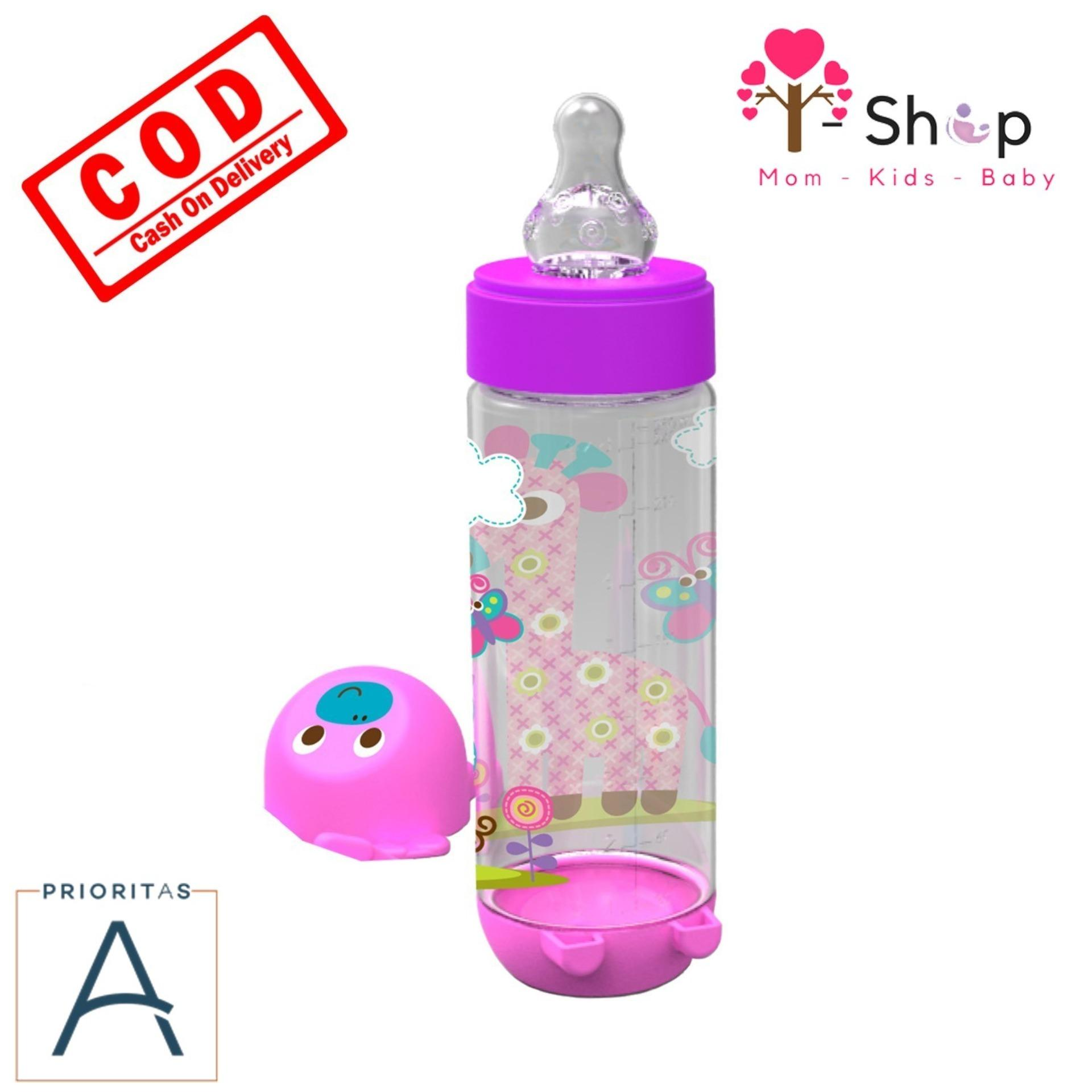 i-shop Baby Safe Botol Susu Bayi 250 ml / Botol Susu Bayi Karakter Binatang / Feeding Bottle 250 ml / AP002