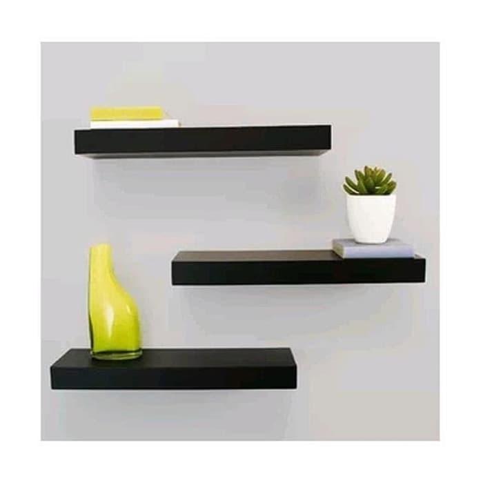rak dinding minimalis melayang pajangan dinding