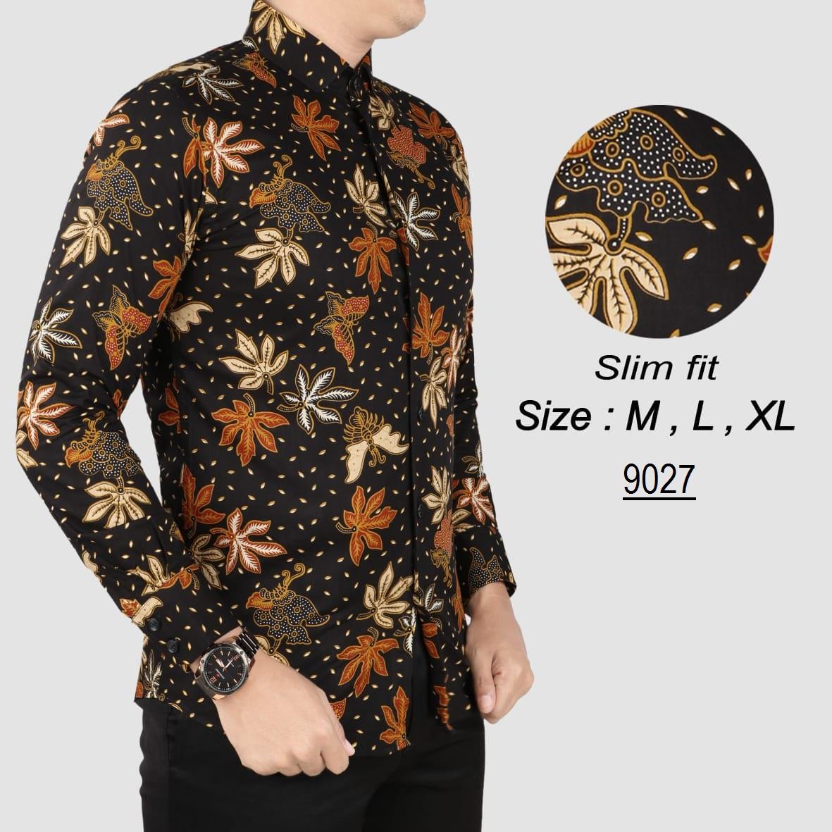 her+man batik pria modern kemeja batik pria slim fit 185w1