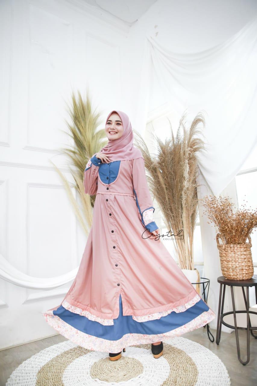 baju busana pakaian muslim gamis wanita bahan katun toyobo
