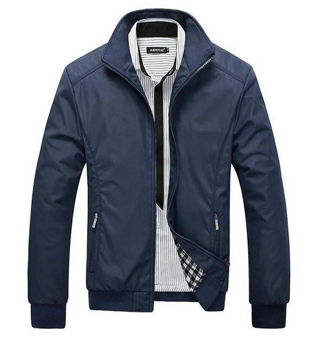 jaket virendra biru navy bahan waterproof anti air tersedia 5 warna pilihan distro bandung