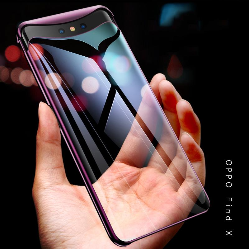 Hicase For Oppo Find X Ultra Thin Slim Case Anti-Scratch Clear Transparent Plating 2
