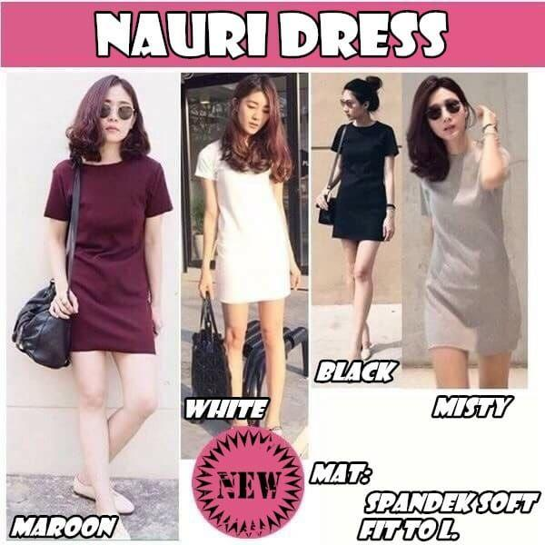 Lily fashion Dress Nauri / loose Dress / Atasan Wanita / Baju Jalan / Fashion Wanita /Jaket Wanita / Cardigan /Blouse / Kemeja Wanita / Baju Anak / Jamsuit / Sweater / Hijab / Baju Kurung / Kulot /Tunik /Long Dress / Piyama