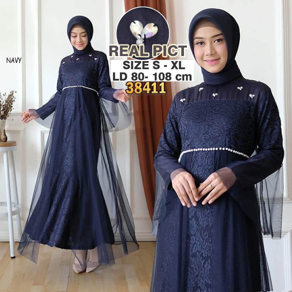 sw gratis ongkir gaun gamis pesta brukat tulang payet premium fashion kebaya syari pesta kondangan nikahan original branded brokat glitter import party lace hijab dress duyung mewah wisuda remaja modern payet tutu tile jumbo besar big xl ihfahliana