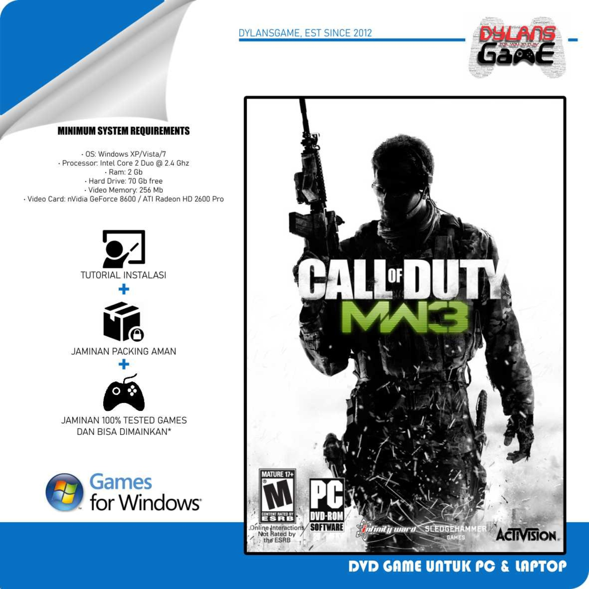 call of duty modern warfare 2 cod mw2 pc games dvd game laptop cd game pc