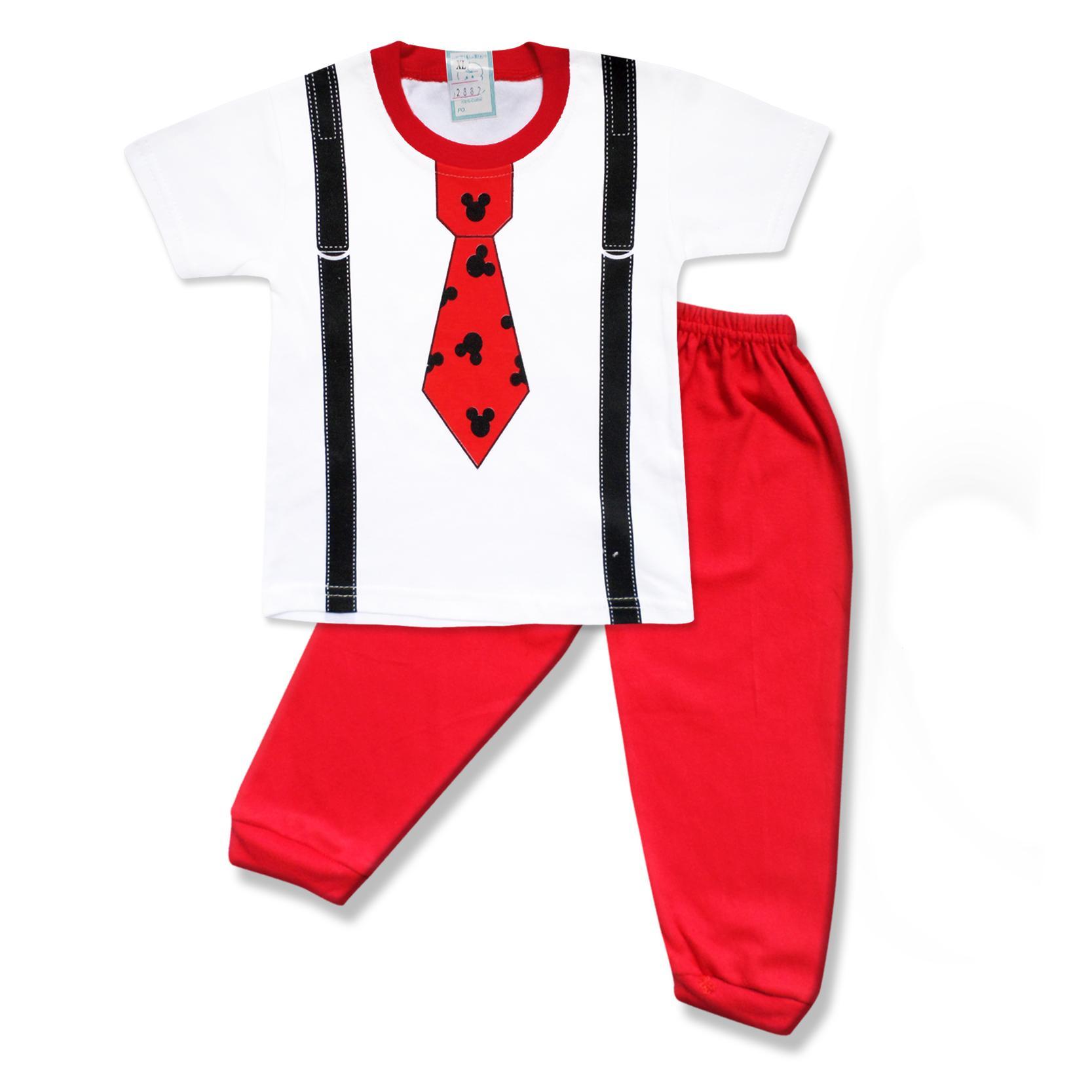 Skabe Baby Warna Tua Baju Tangan Pendek Anak Laki Laki Setelan Kaos Celana Jogger 2882