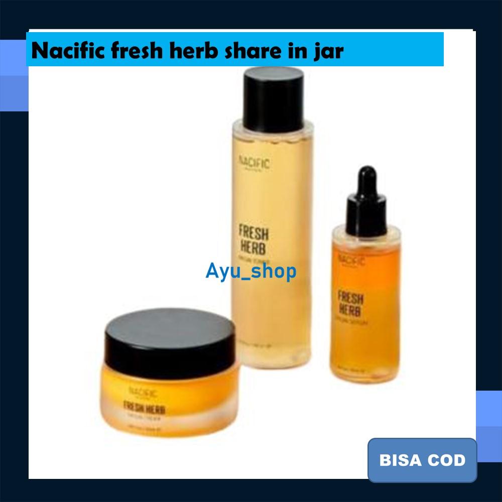 nacific fresh her sharepaket kecantikan share travel full size origin series nacific fresh herb serum toner cream kit in jar