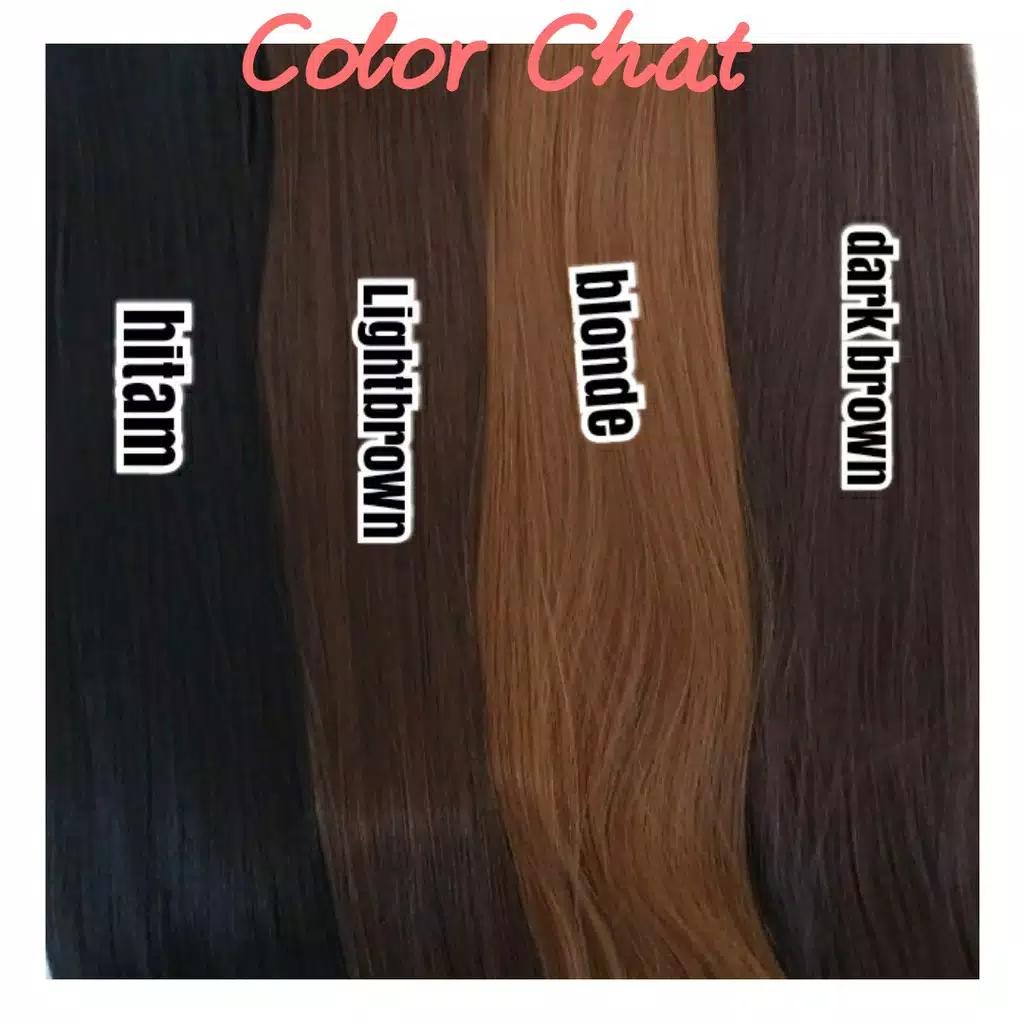 hair clip rambut lurus palsu