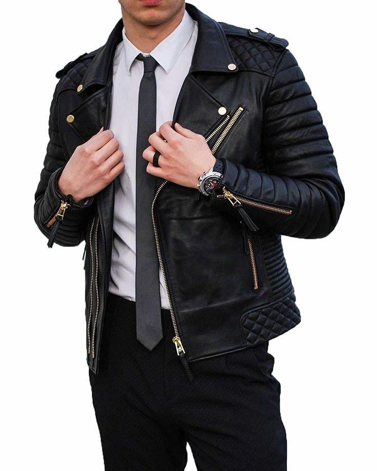 jaket pria kulit sintetis ramones  berkualitas