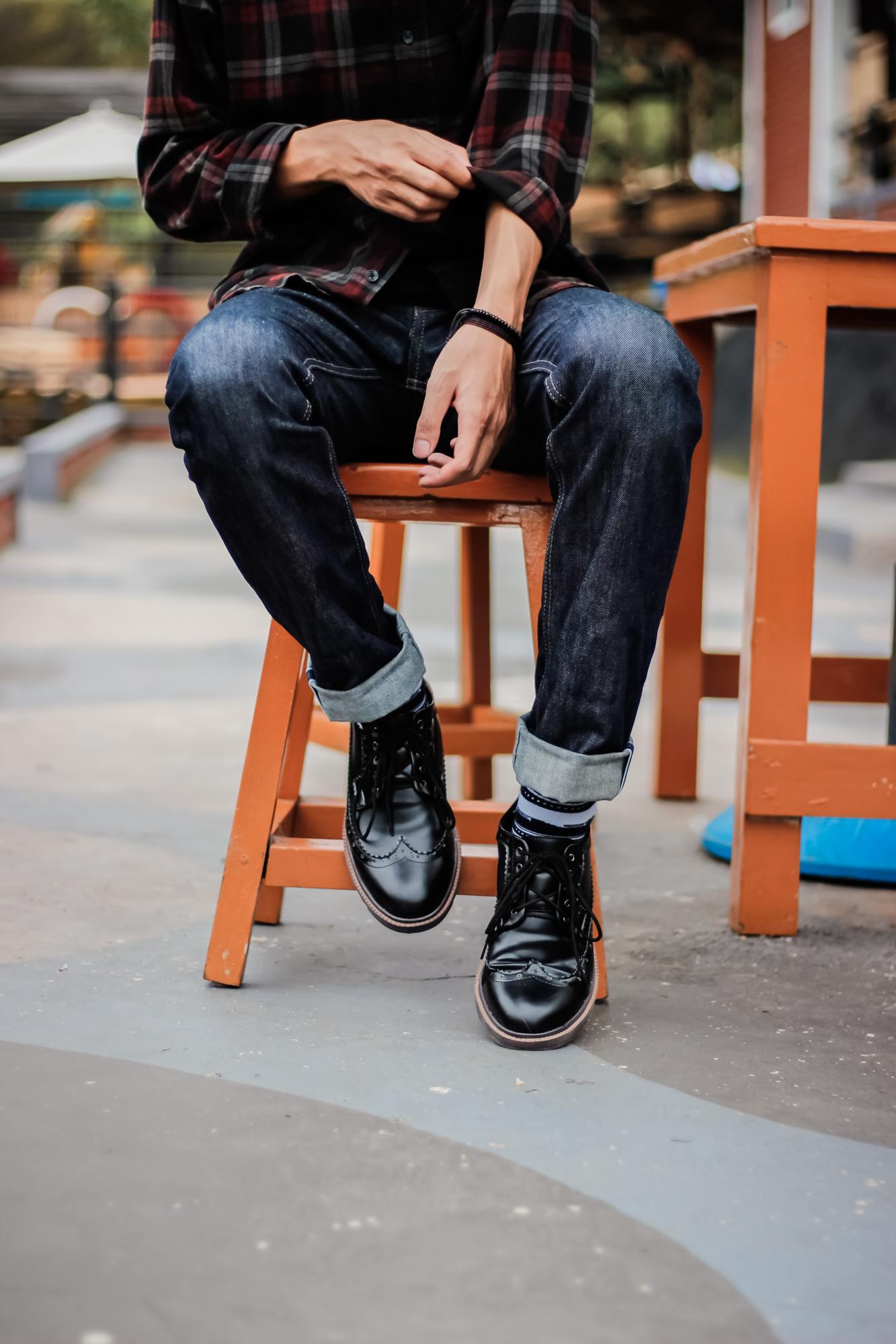 sepatu formal pria footwolker / longwing black