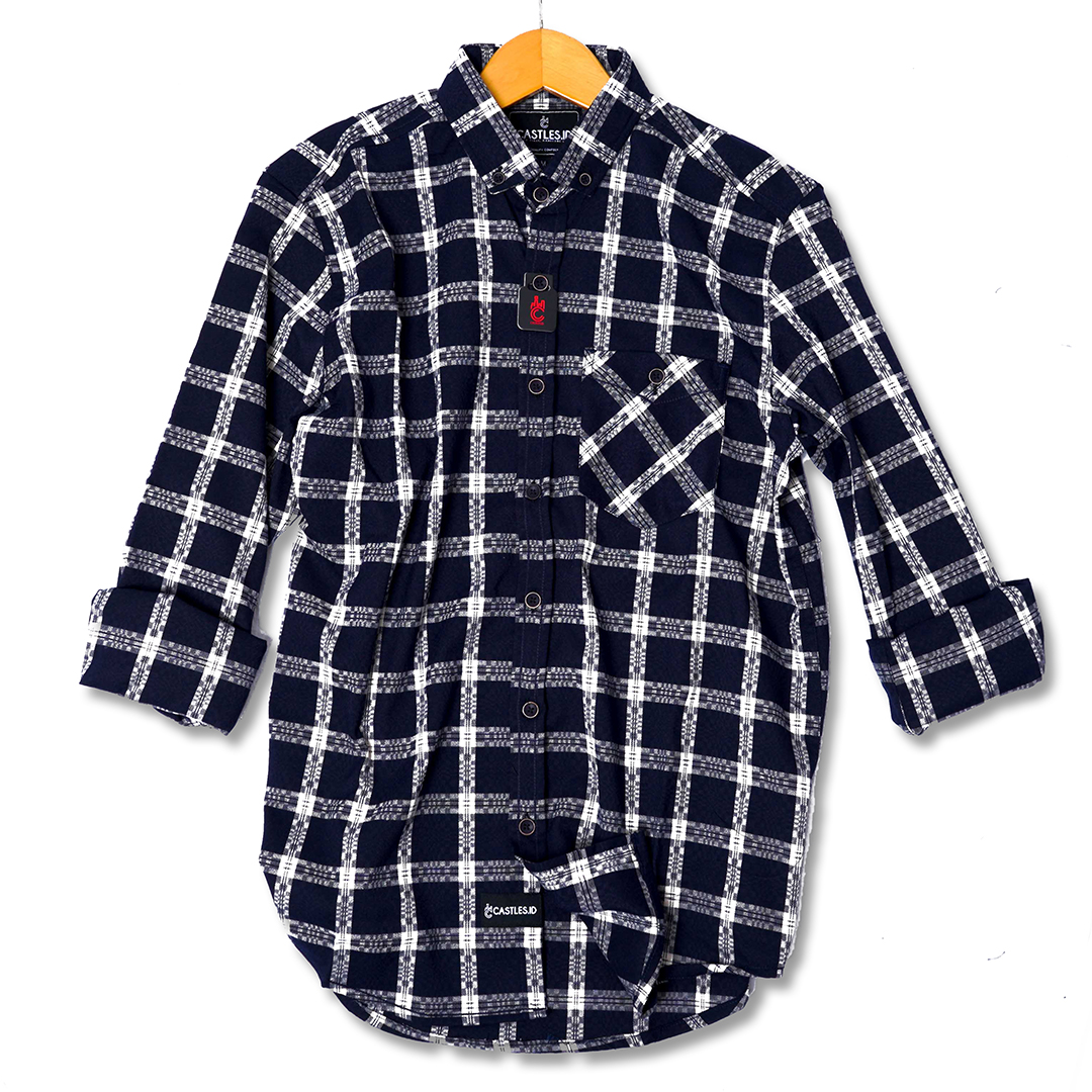 zoeystore1 6522 kemeja flanel lengan panjang exclusive baju kemeja cowok premium
