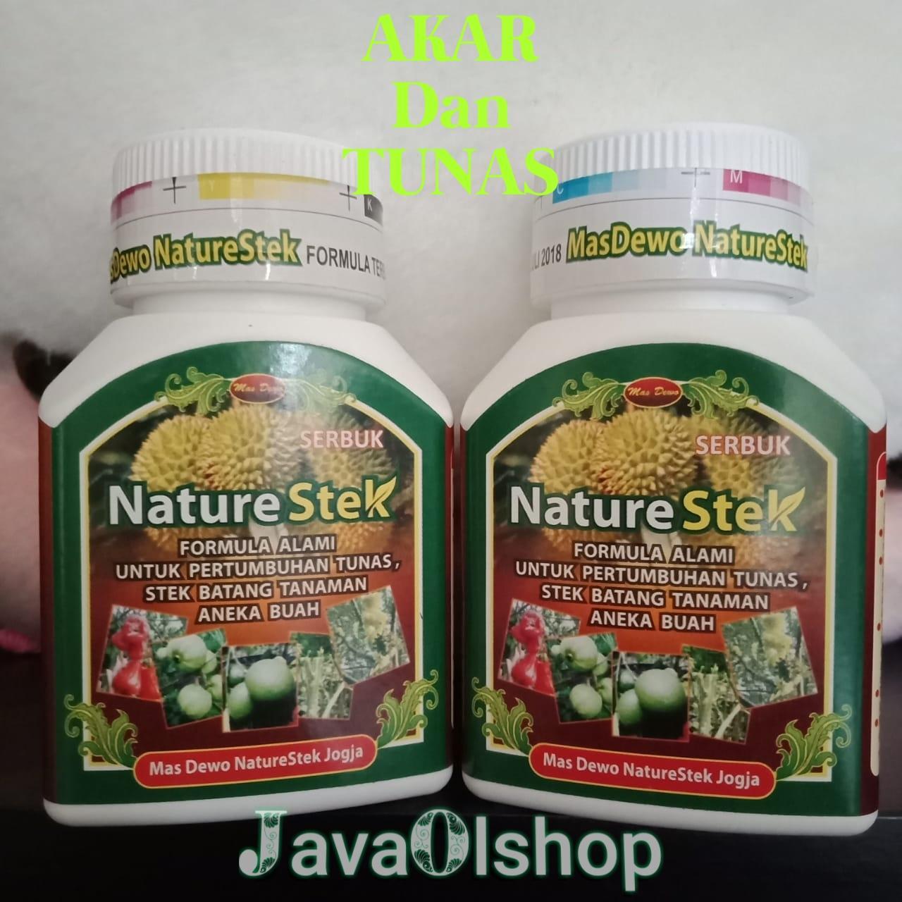 promo 2 botol nature stek  akar tunas kemasan 100 gram per botol