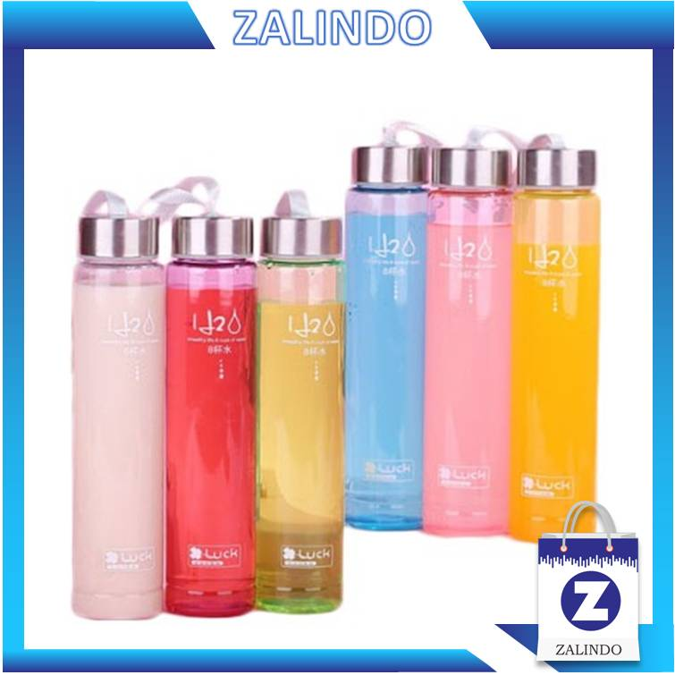 Zalindo - Botol Minum Bening H2O / Bottle H2O Clear / Botol Air 280 ML