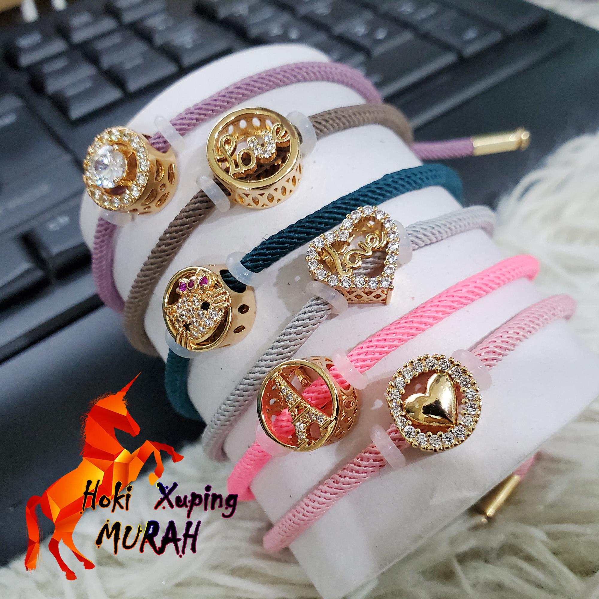 hoki xuping – gelang tangan pandoran motif liontn nyalucu xuping gold perhiasan wanita