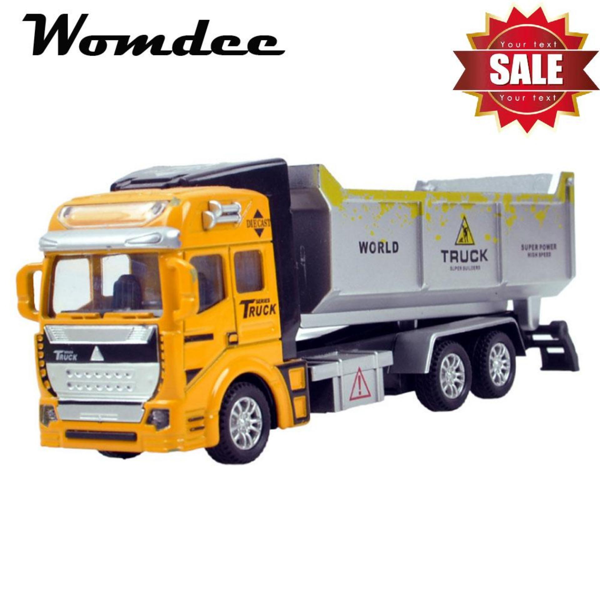 Womdee 1 Pcs Diecast Mini Car Alloy Wheel Car Model Construction Tools Engineering Vehicle Truck Birthday