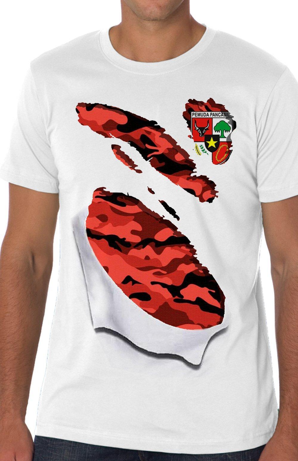 kaos 3d distro pp jersey sixpack pemuda pancasila sobek t-shirt baju