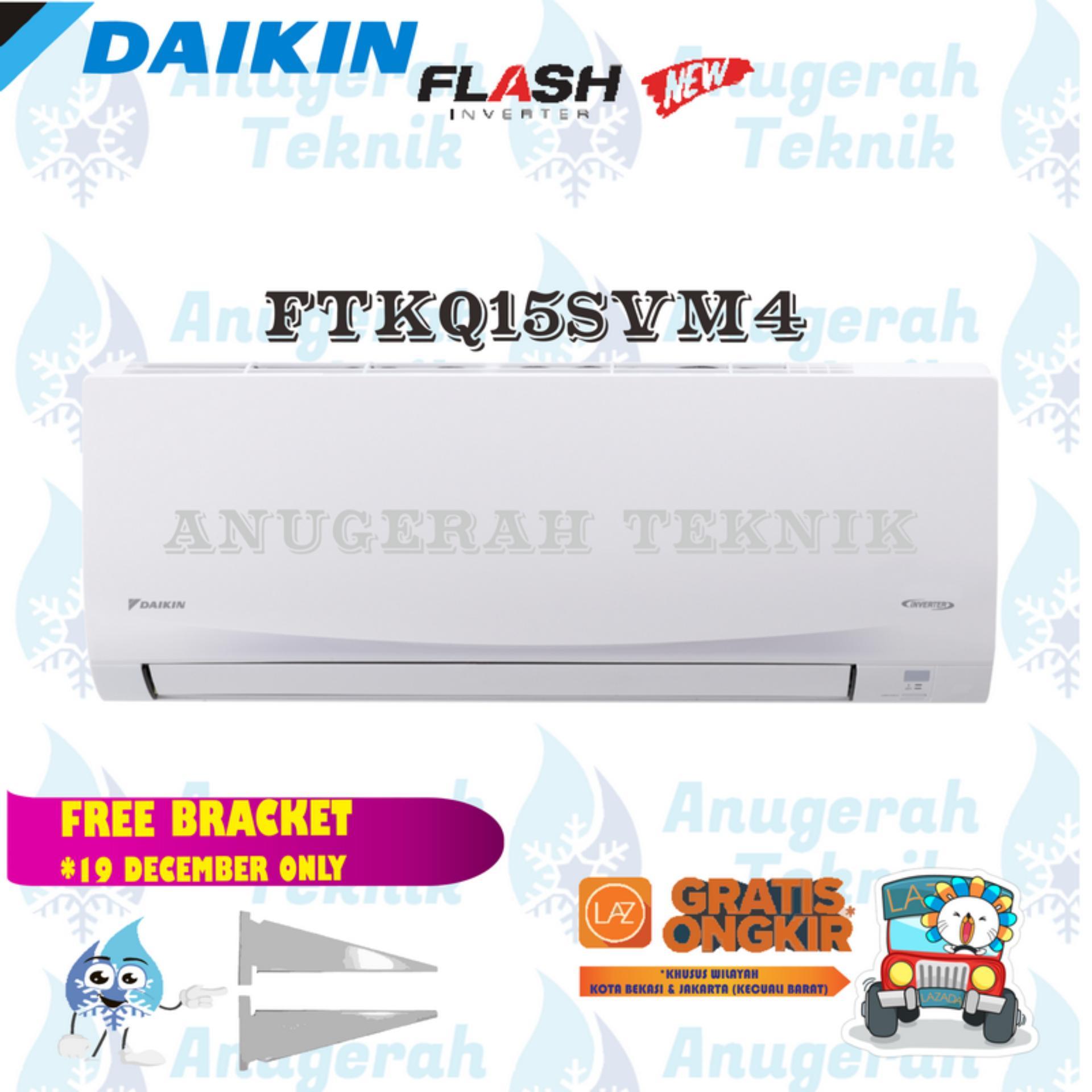 Daikin AC Split 0.5 PK R32 Thailand Flash Inverter - FTKQ15SVM4