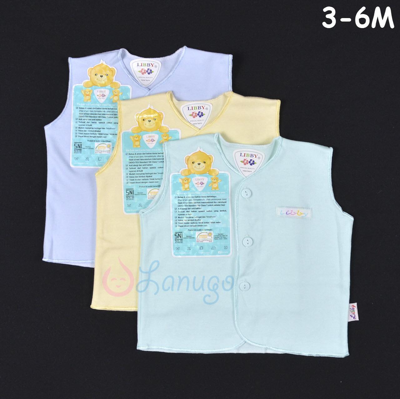 LIBBY 3 Pcs Baju Kutung Bayi/Baby Warna (3-6M)| Baju
