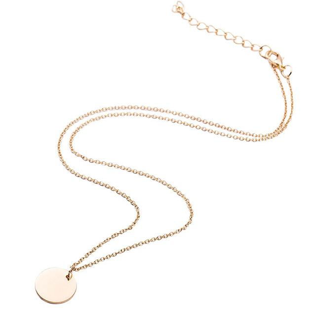 oila kalung simpel bulat small round thin simple necklace jka159