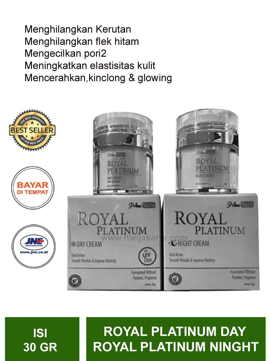 prime skin paket  royal platinum ninght cream + day cream hwi original