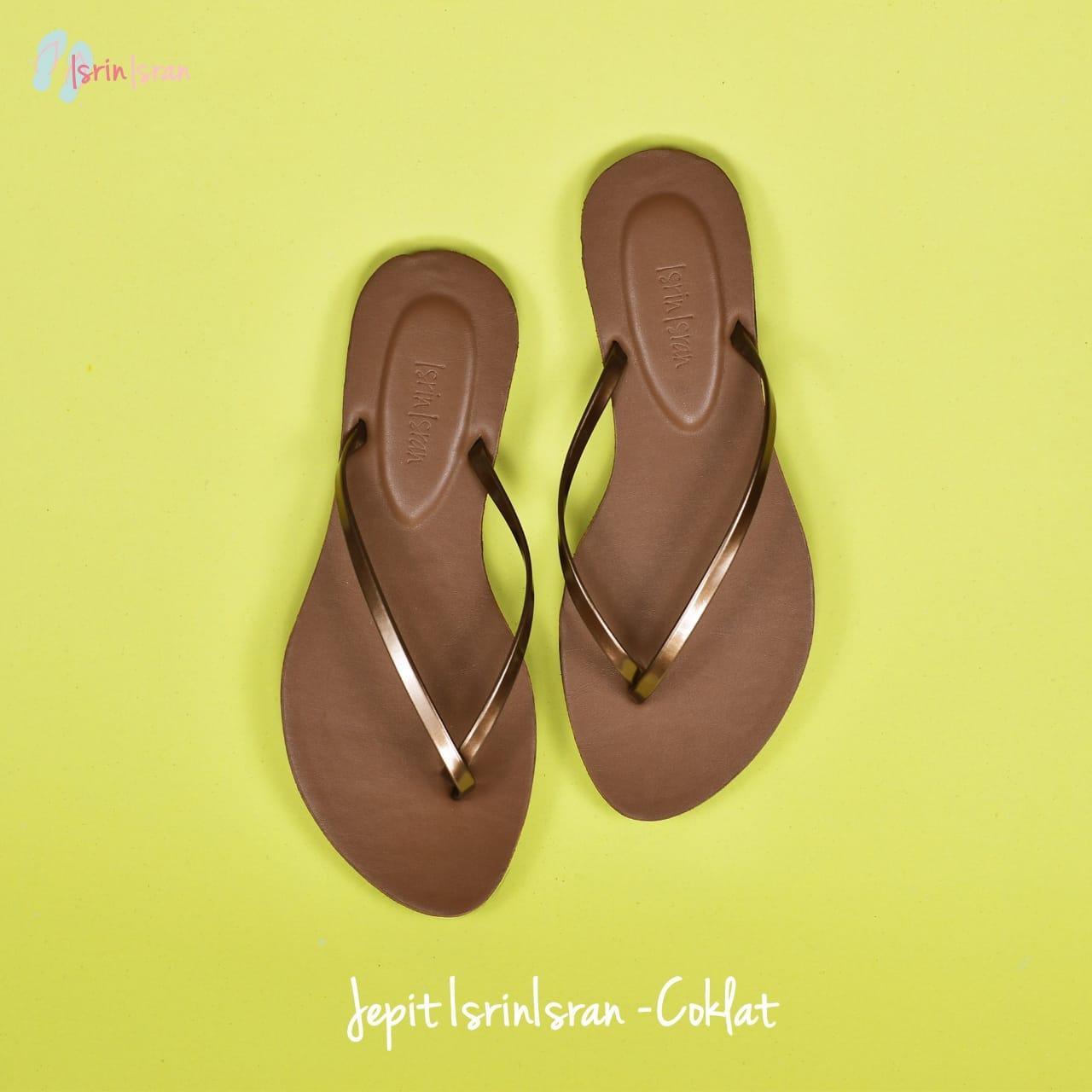 sandal wanita sandal jepit pantai merk isrin isran original