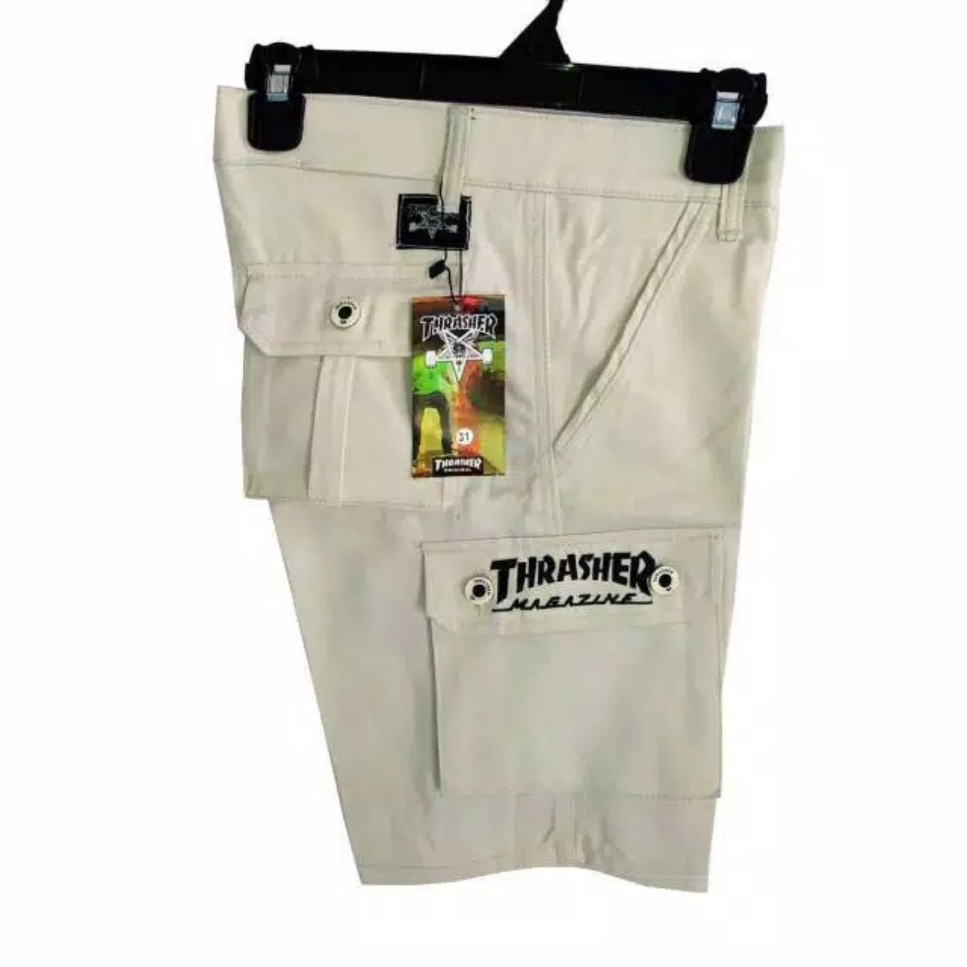 cargo pendek  pria bahan lokal america jeans